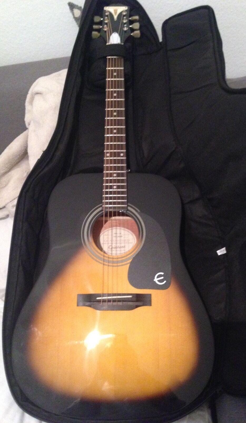 Epiphone Anfänger-Gitarre mit Session Polstertasche Sunburst