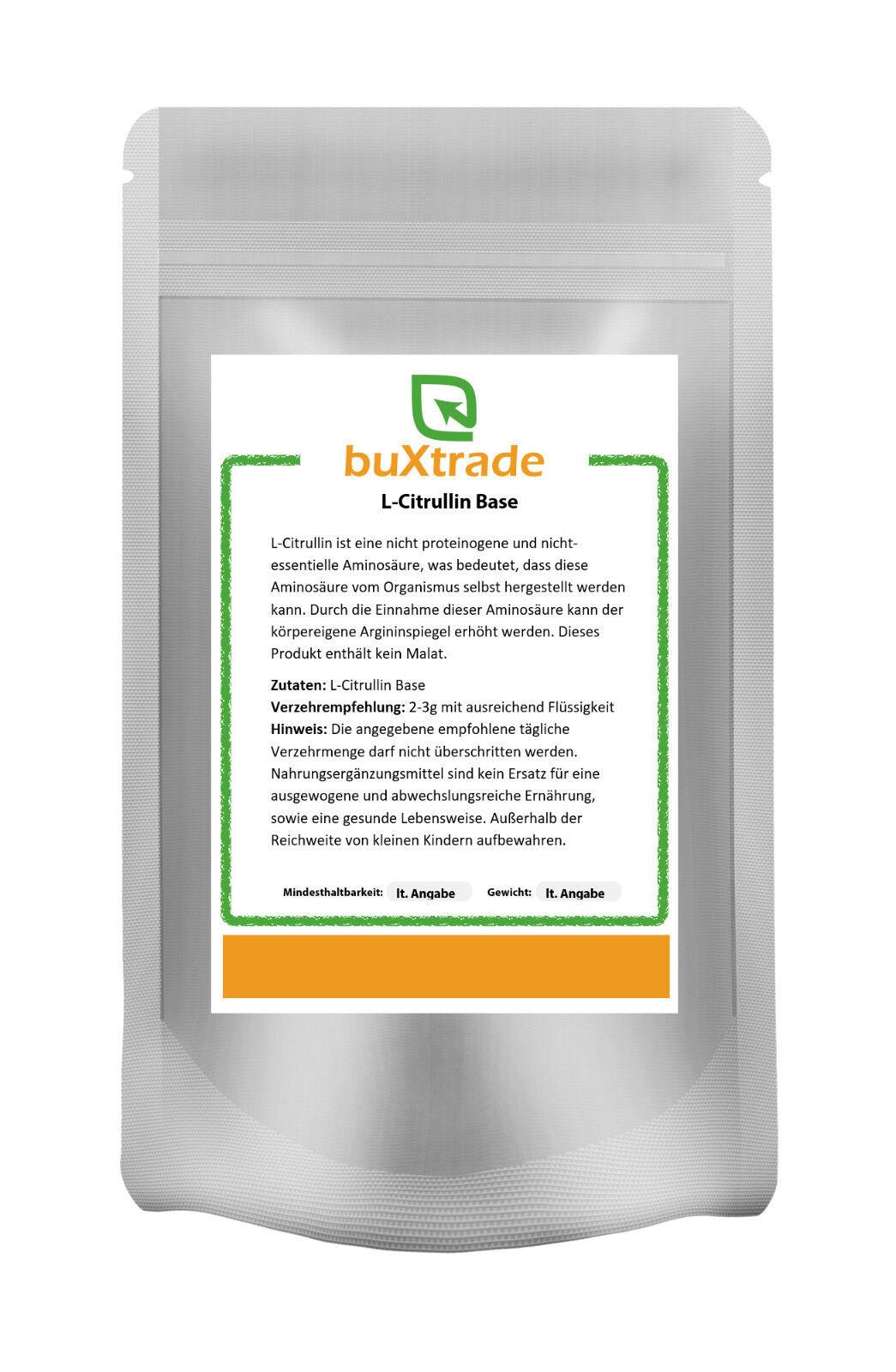 100 g L-Citrullin Base - rein | Aminosäure | ohne Malat
