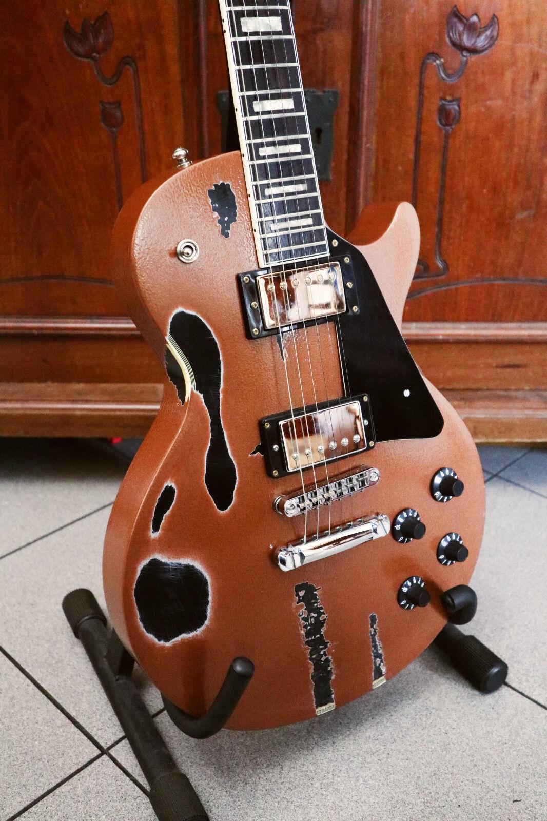 1970s Les Paul Goldtop Custom Relic Black Beauty Vintage Lawsuit Guitar Japan
