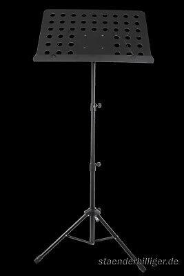 Orchesterpult metall Lochblech Notenständer Notenpult Notenstativ Stativ Stand