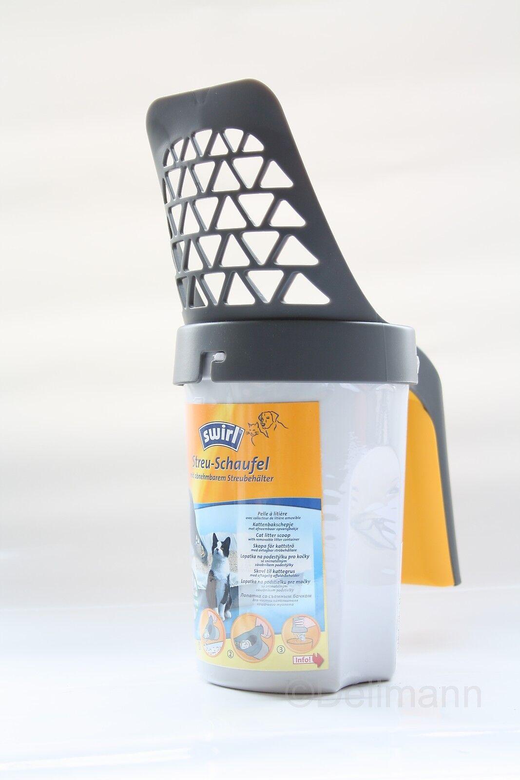 Swirl Streuschaufel Streu-Schaufel  4-6 mm für Katzenstreu - abnehmbares Sieb