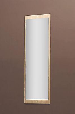 Spiegel Wandspiegel Badspiegel Garderobenspiegel 36x112cm Rückwand sonoma Eiche