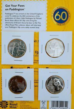 Set of 4 Paddington Bear Coins Station Palace Tower of London St Pauls Cathedral