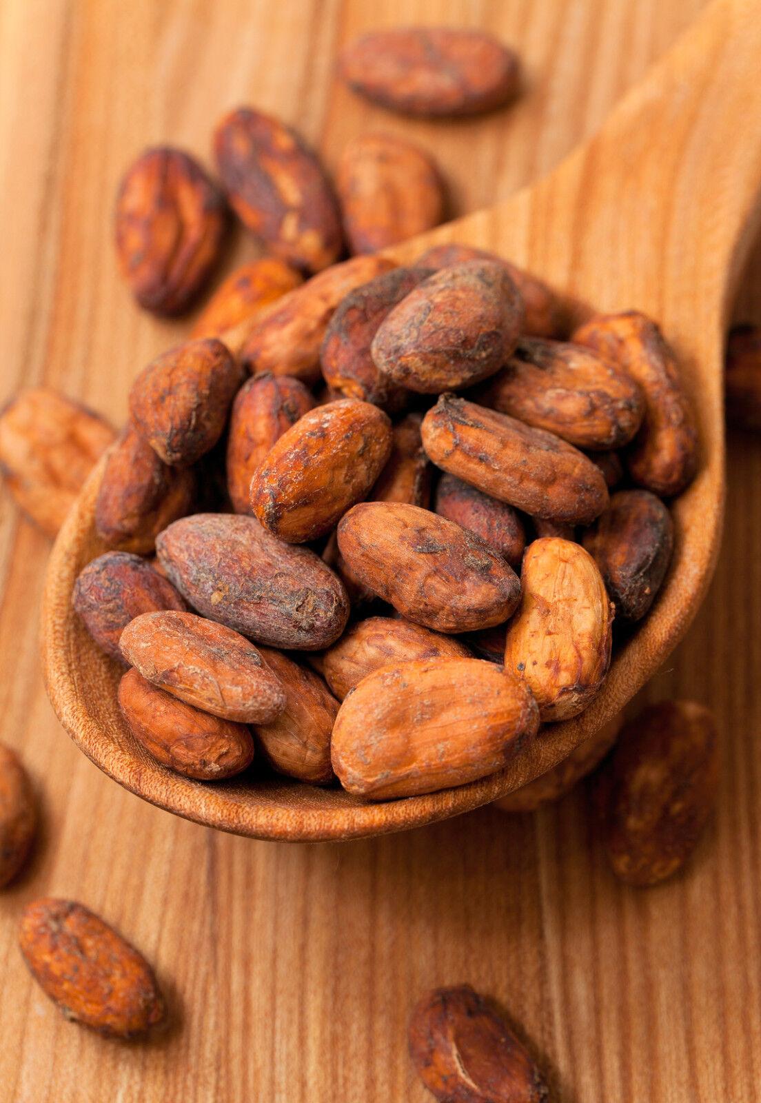 500 g Kakaobohnen roh - unbehandelt ganz Kakao Bohne rein Rohkost