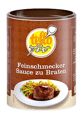 tellofix Feinschmecker Sauce zu Braten 470 g (5 l) sämige dunkle Bratensoße