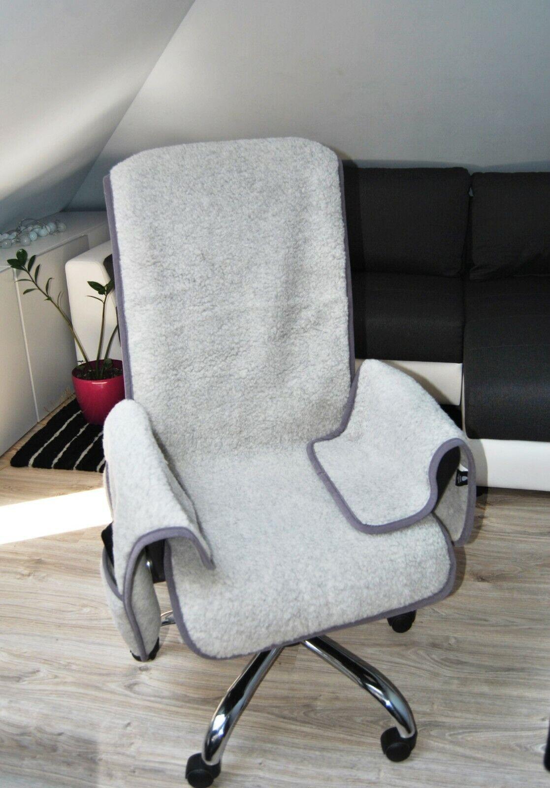 details sur merino wool siege housse chaise medical coussinet bureau jardin fauteuil housse