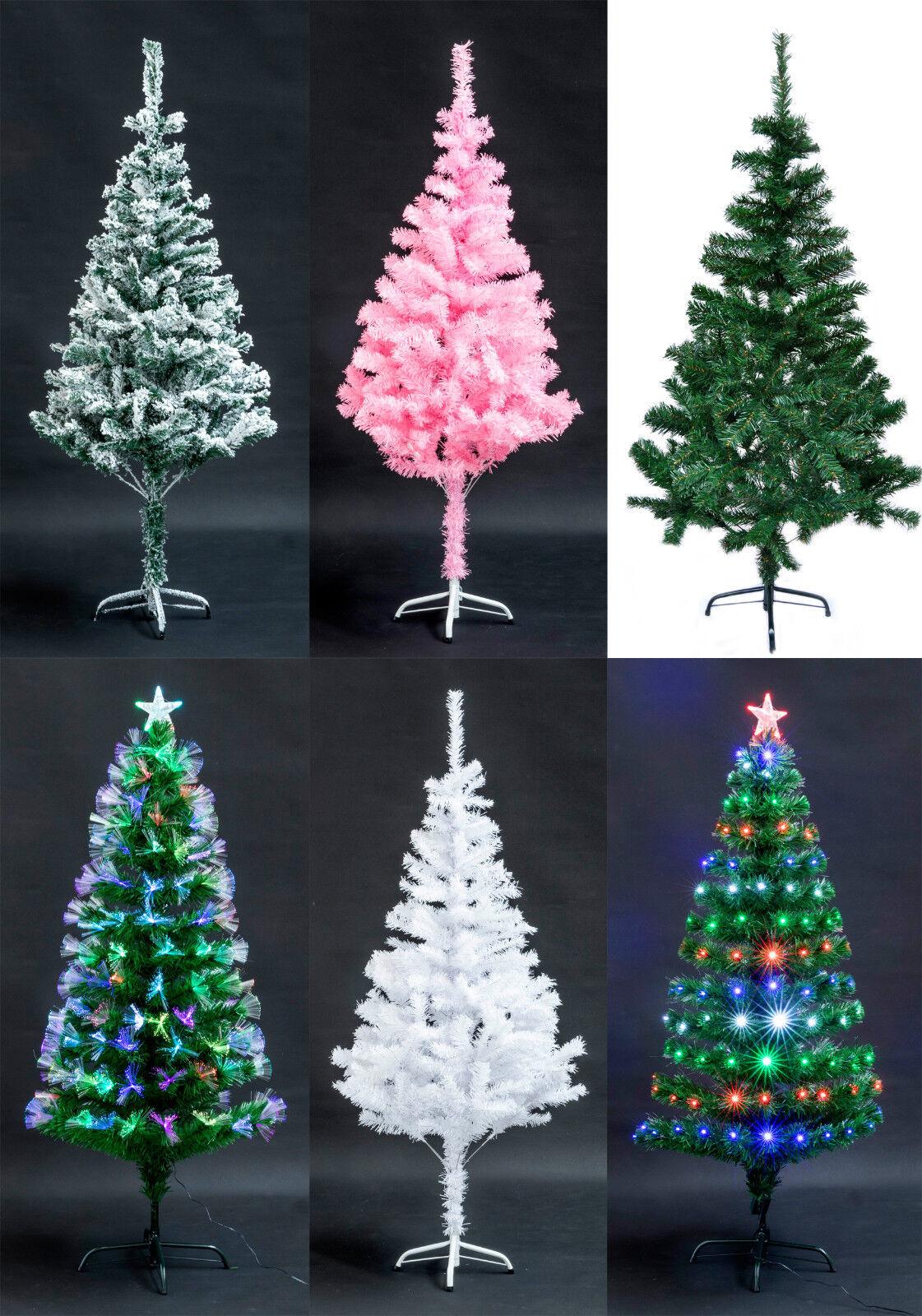 Künstlicher Weihnachtsbaum 90-180cm Christbaum LED Glasfaser oder Schnee Wahl