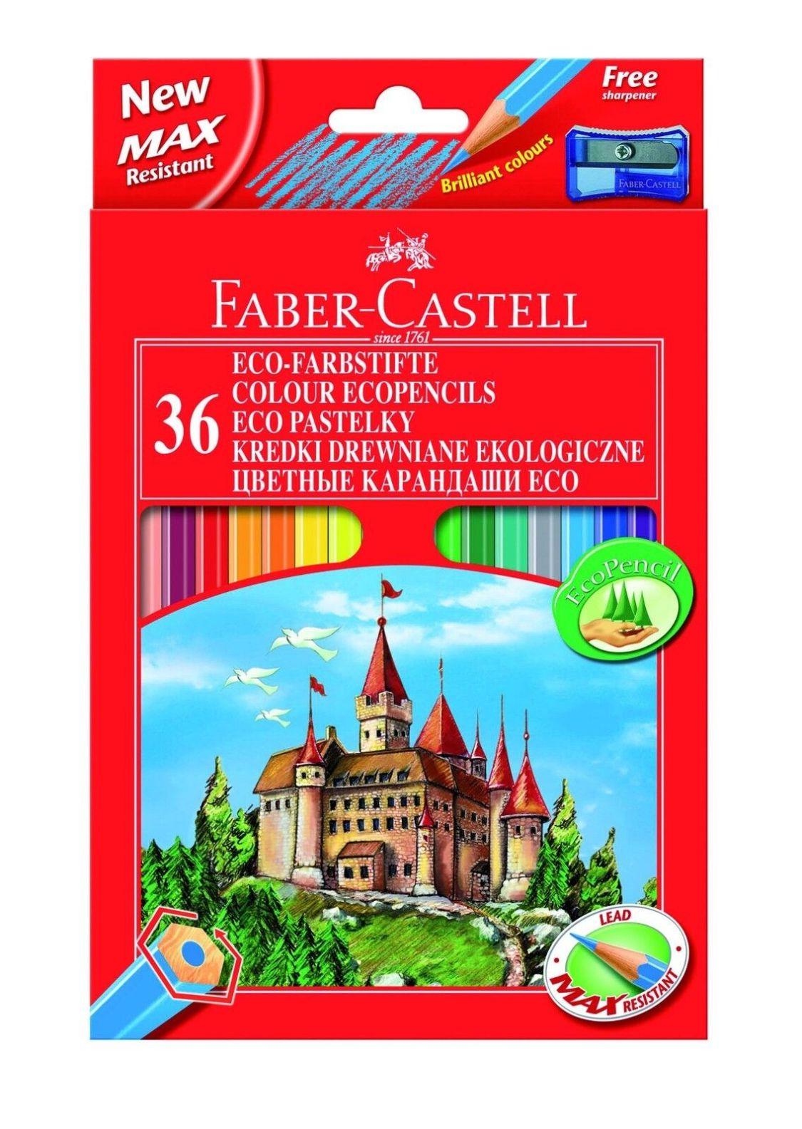 36 Faber Castell Farbstifte Buntstifte Malstifte mit Spitzer 36er Etui Eco