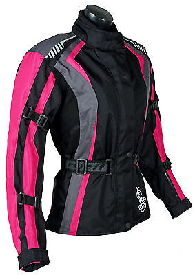 Roleff Racewear Ladyfit - Damen Textil Motorradjacke mit Protektoren & Membrane