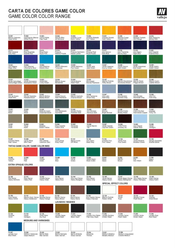 Vallejo Game Color Conversion Chart Coloringsite