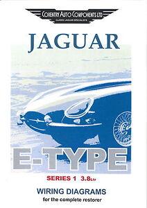 Series 1 Etype 38 Jaguar Exploded Wiring Diagram Book