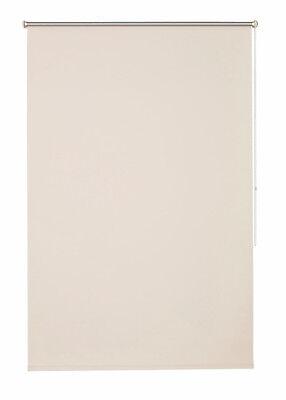 Klemmfix Rollo Luxury Klemm Sonnenschutzrollo wollweiß / sand  45 - 100 cm breit