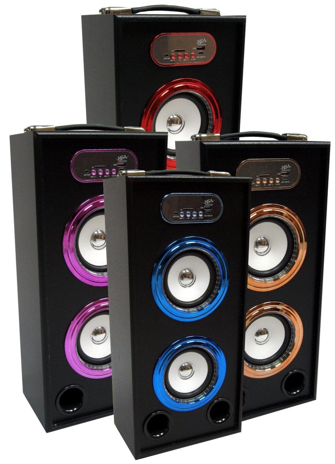 44cm TRAGBARE BLUETOOTH LAUTSPRECHER - VERS. FARBEN - SOUNDBOX - FM,AUX,SD,MP3