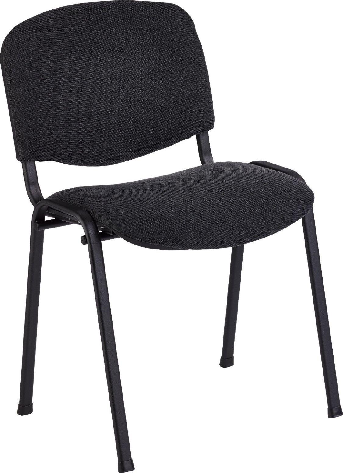 Beethoven Iso - Konferenzstuhl, Bankettstuhl, Stapelstuhl, Besucherstuhl schwarz