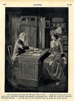 Künstlerwerbung für Kathreiners Malzkaffee Ad 1910