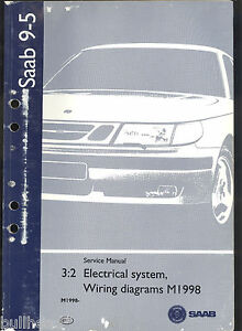 M1998 SAAB 95 AUTOMOBILE ELECTRICAL SYSTEM WIRING DIAGRAM