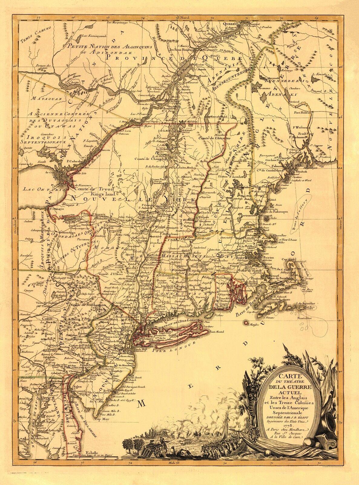 Old Revolutionary War Map