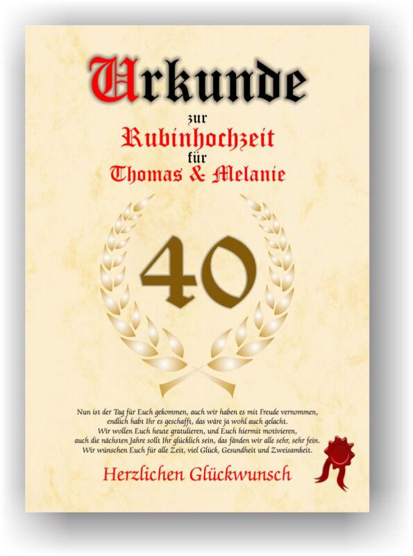 Rubinhochzeit Moderne Inspiration Zum 40 Hochzeitstag 40