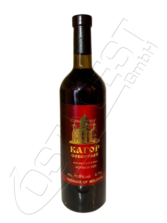 Kagor Rotwein süß aus Moldawien 11,5% 0,75l Wein Codru