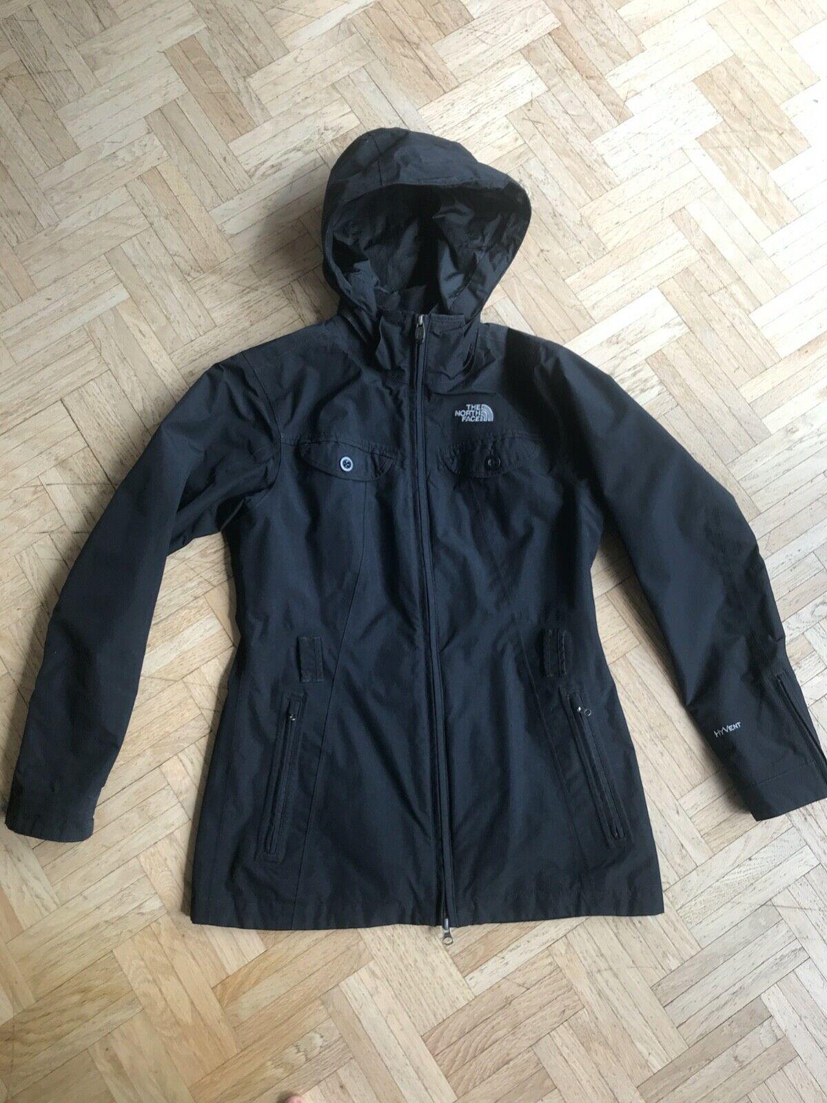 The North Face Regenjacke Damen S schwarz Hyvent Jacke Outdoorjacke