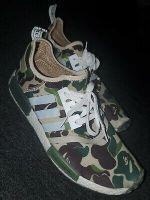 "Adidas x Bape NMD ""Green Camo"" Size 10 Authentic Rare"