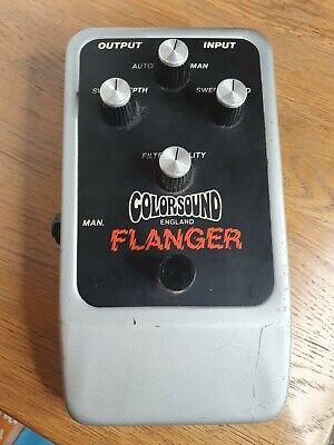 Rare Original Coloursound Flanger Guitar Effects Pedal Vintage