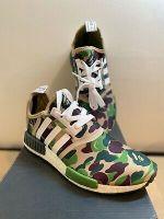"Adidas NMD R1 Bape ""OLIVE CAMO"" Bathing Ape Nomad Runner BA7326 – Size 8 – NIB"