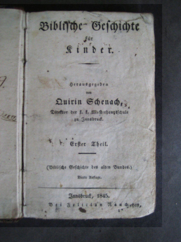 Biblische Geschichte für Kinder - 1845