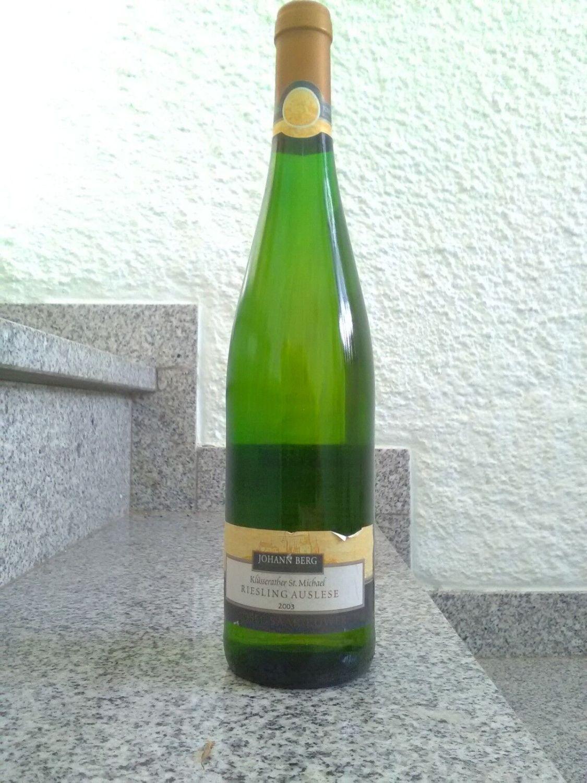 Riesling,Auslese,2003, Dessertwein, 8,5%,Johann Berg, Zell/Mosel