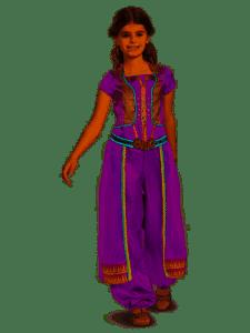 Disney Aladdin - Jasmine Purple Child Costume - 2019 Movie