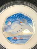 BLUE GREY HAT MIS-PRINT Error 50p 2018 Silver Proof The Snowman 50 pence coin