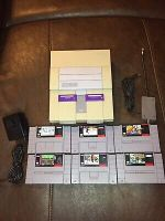 SNES Console With Cords And Sports Games Super Nintendo Free Shipping!