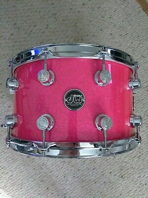 DW Drum Workshop Performance Series 8 x 14 Snare Drum PINK SPARKLE