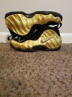 Nike Foamposite Pro Gold Size 9