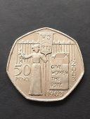 50p Coin 2003 Suffragette WSPU FREEPOST
