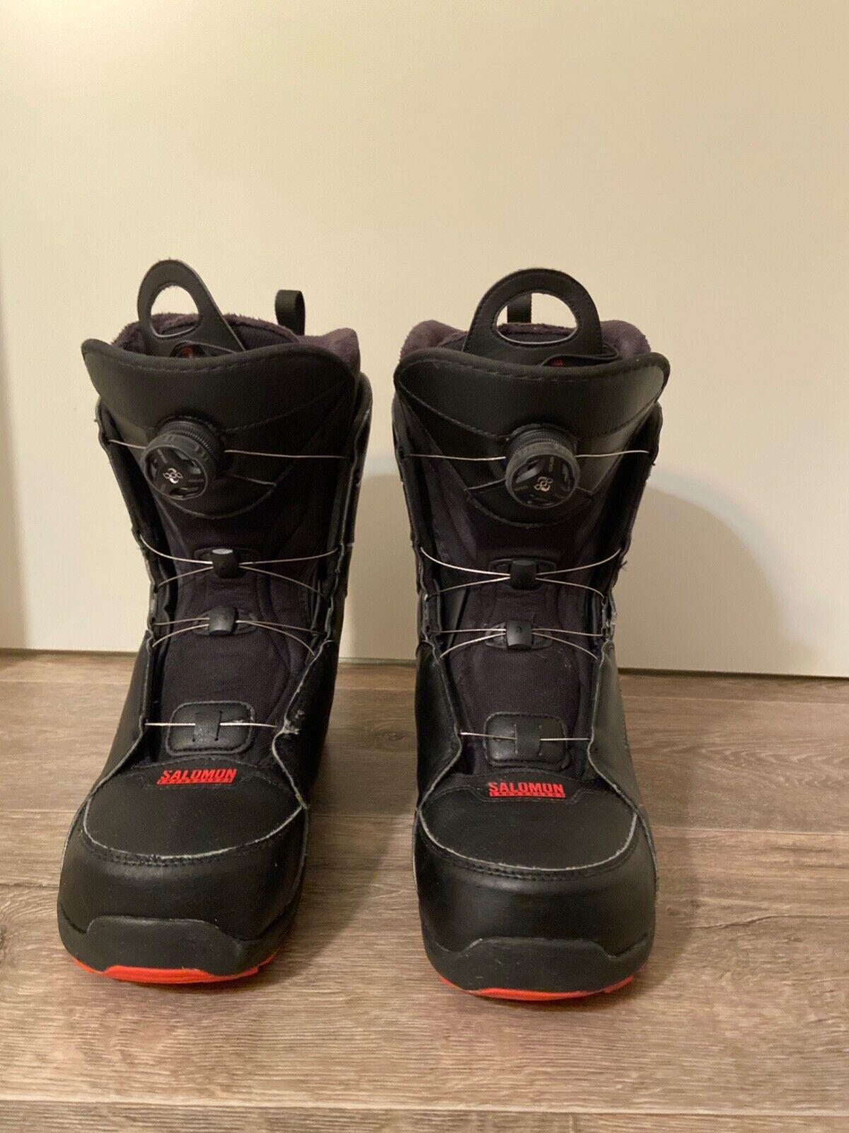 Snowboardschuhe Herren, Salomon Faction Boa, schwarz , Größe 45