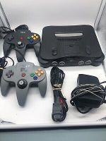 Nintendo 64 N64 Console Complete Bundle with 2 Controllers Tested All Cords