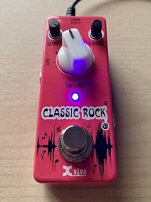 Xvive Classic Rock Overdrive / Distortion Guitar Effect Pedal Tube Sound