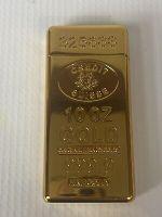 Vintage Gold Credit Suisse Butane Lighter,  24K plated