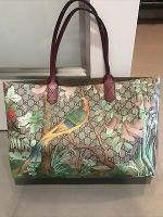 Authentic Gucci GG Supreme Coated Canvas Tian Garden Shoulder Tote Bag