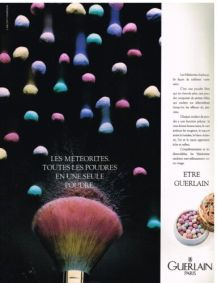 Publicite-Advertising-1988-Cosmetique-Maquillage-Les-Meteorites-de-Guerlain