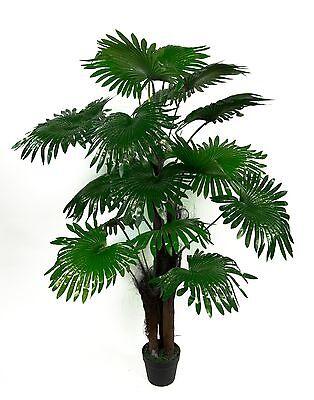 Fächerpalme Real Touch 140cm ZJ künstliche Palmen Pflanzen Kunstpalmen Dekopalme