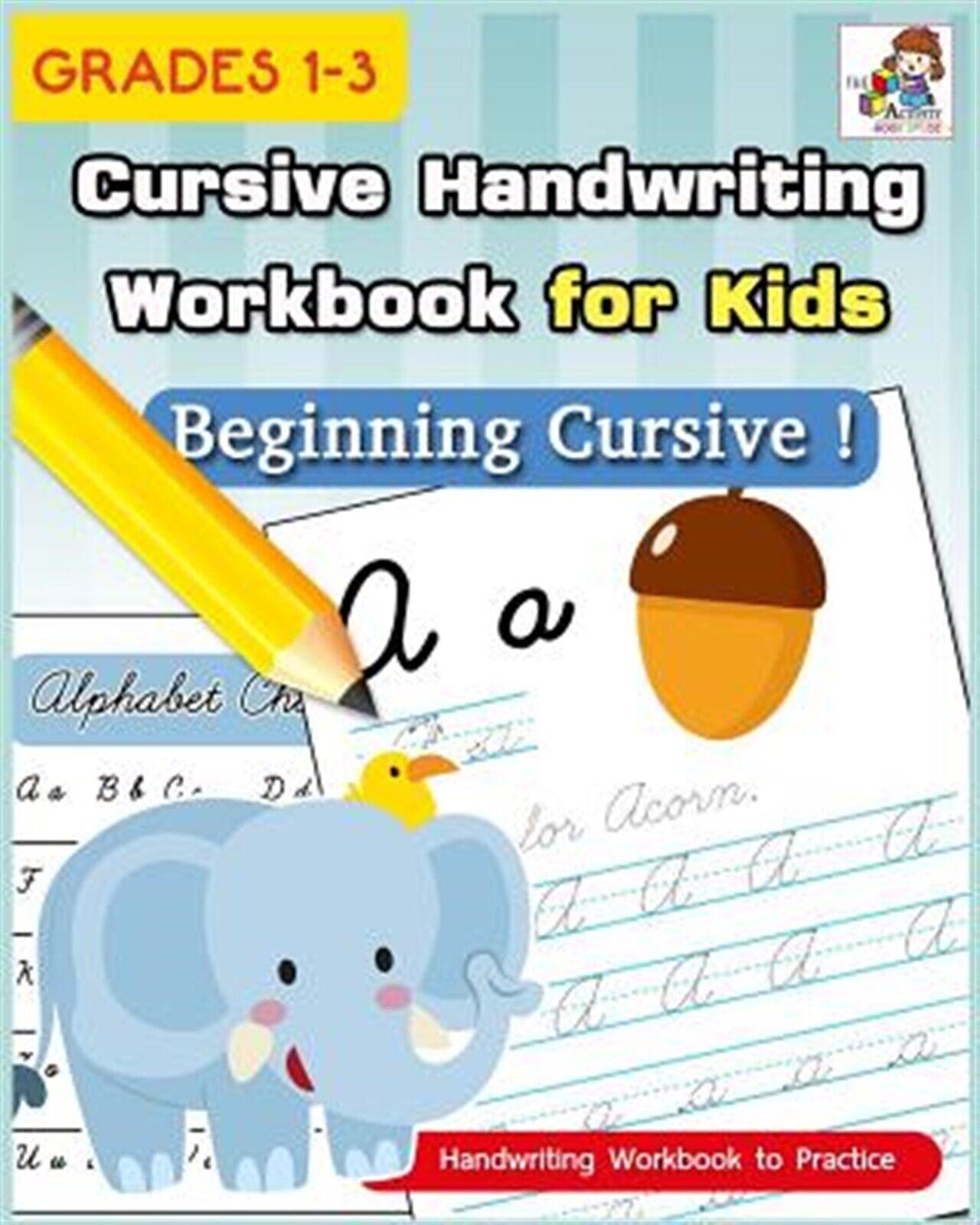Cursive Handwriting Workbook For Kids Cursive Writing