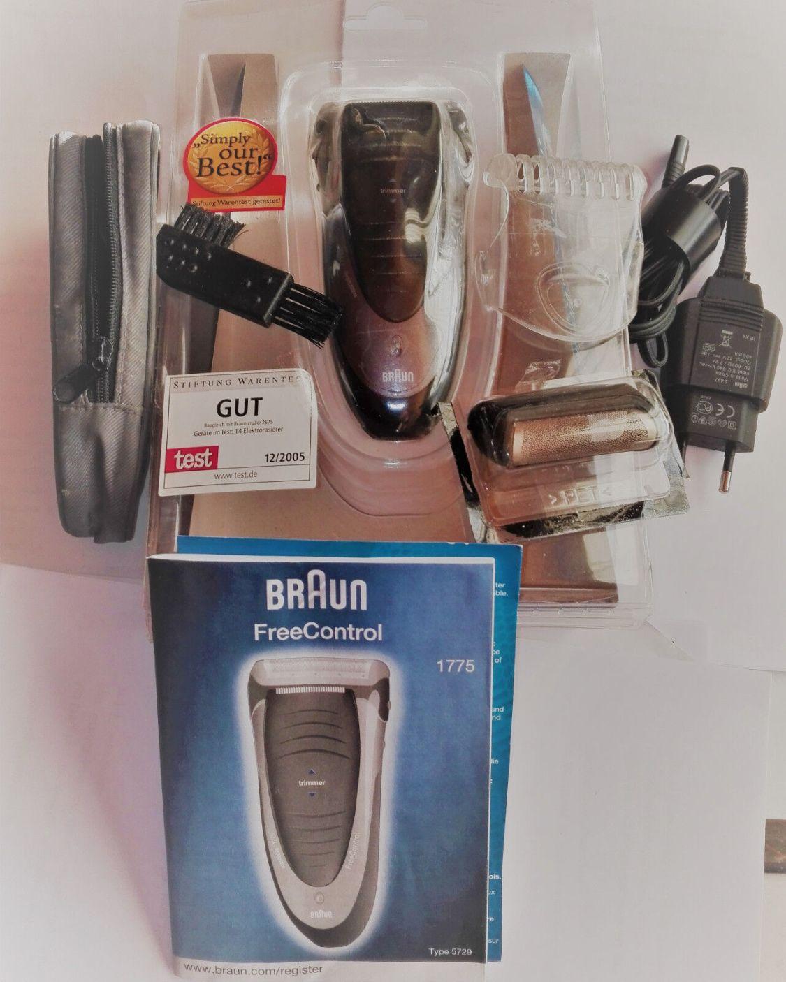 Braun FreeControl Folienrasierer Rasierer 1775 - Series 1000  - Silber/Schwarz
