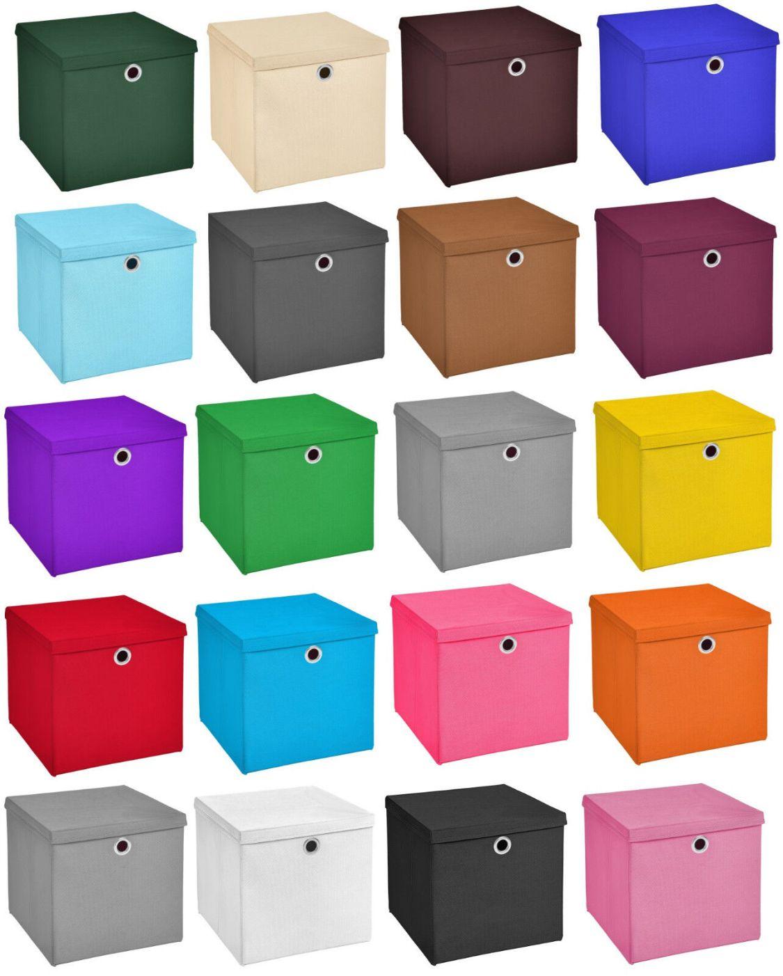 4er Set 32x32x32 Aufbewahrungsbox Spielkiste Regalkorb Faltkiste Korb Kinder box