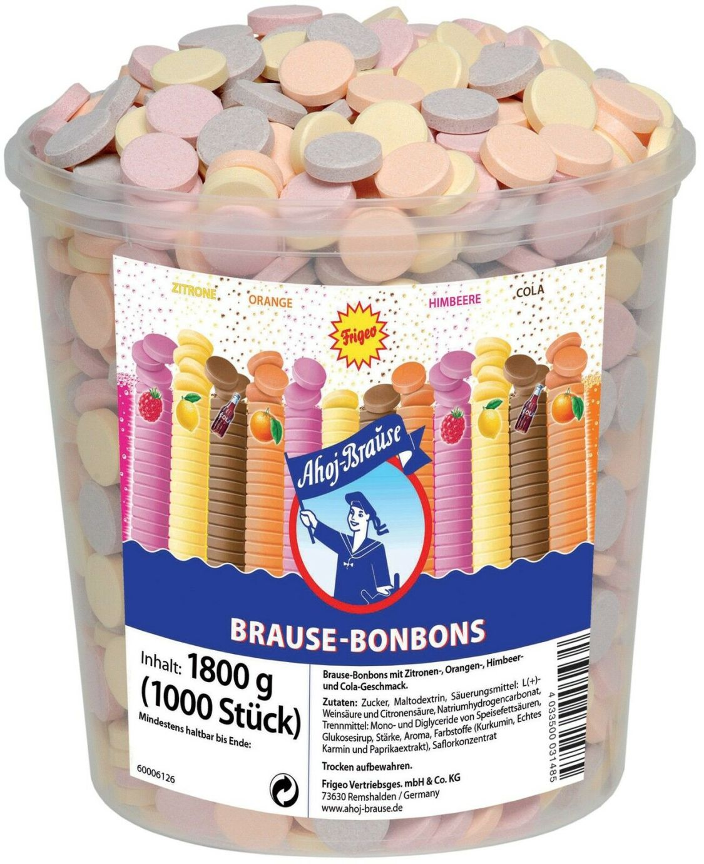 (1000g=7,22€) Frigeo Brause Bonbons - Ahoj Brause - 1000 Stück