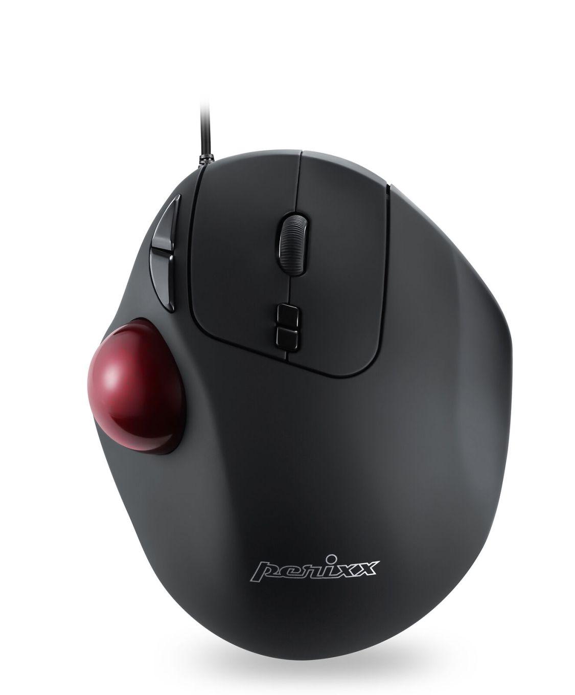 Perixx PERIMICE-517 Ergonomische Trackball Maus mit Kabel