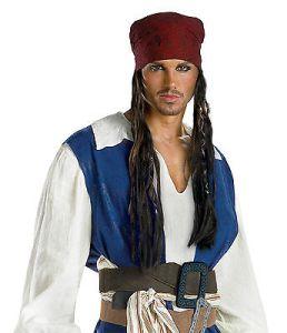 Jack Sparrow Bandanna W Beaded Braids Pirates Of The Caribbean 18767