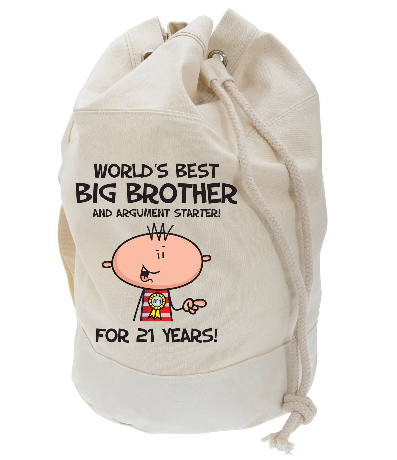 Worlds Best Big Brother 21st Birthday Present Duffle Bag Gifts For Him 5055884399103 Ebay