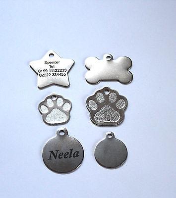 Edelstahl Hundemarke, Katzenmarke, Metall, Beschriftung,  Gravur,stabil 6 Formen